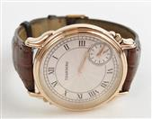 TOURNEAU TWO TIME ZONE 18KT ROSE WATCH